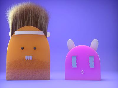 Silly Characters physicalrender render design illustration 3d cinema4d