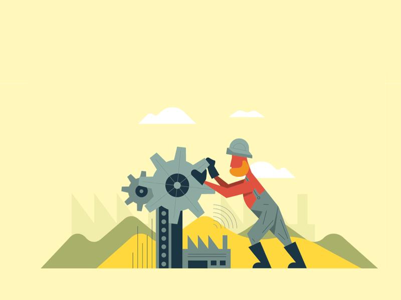 Business vol.4 factory flat economy art business vector