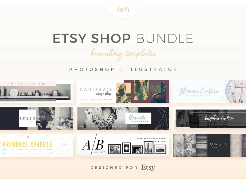 Am Studio Etsy Shop Bundle template builder template design scene creator creative premade logo marketing etsy shop etsy banner ads banner design logo colour palette branding