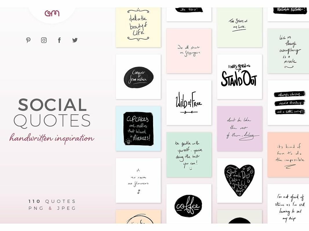 110 Handwritten Social Media Quotes bloggers blog branding color palette design instagram design instagram social media handwritten quote quotes