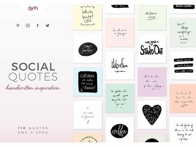 110 Handwritten Social Media Quotes
