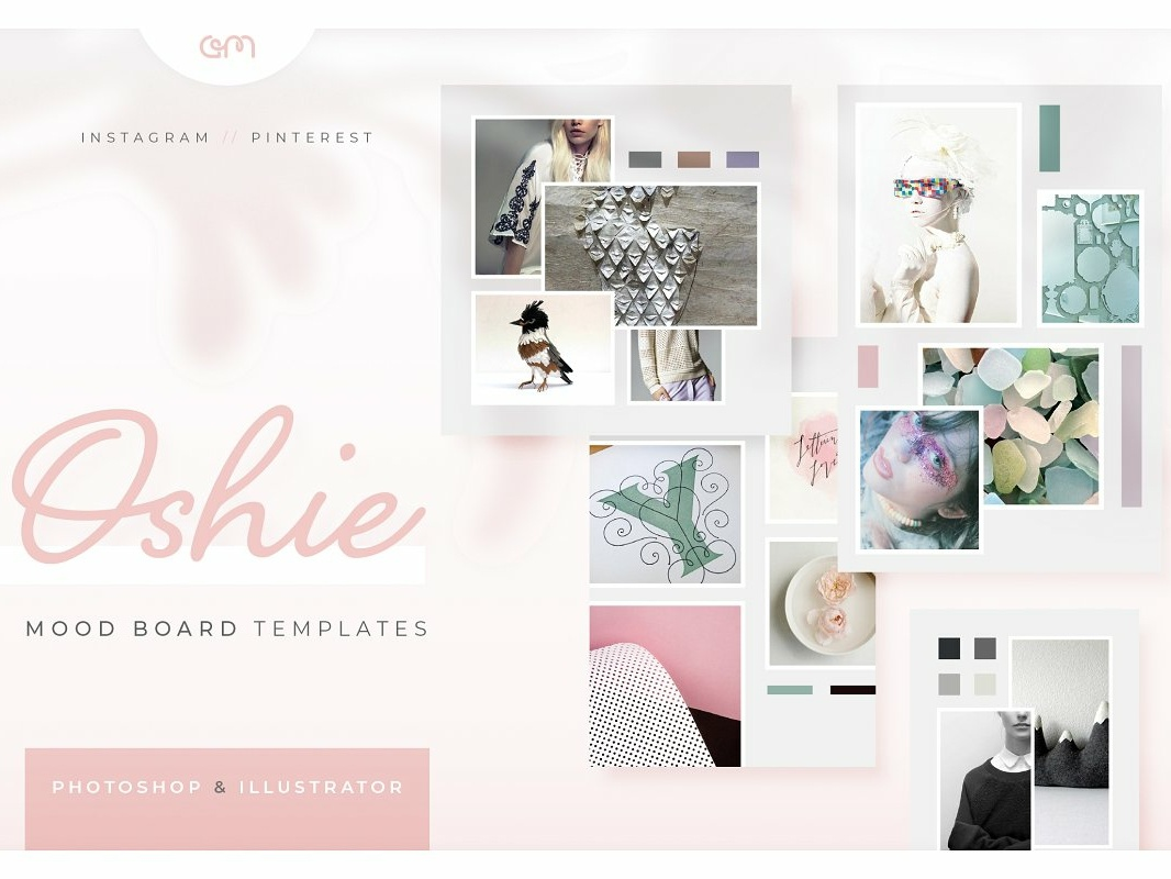 Oshie Mood Boards fashion social media instagram design instagram blog bloggers mood boards moodboards moodboard brand board template builder color palette branding