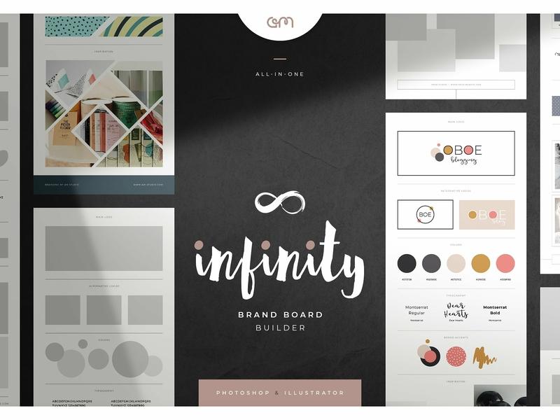 Infinity Brand Board Builder logo design branding logo color palette brand board scene creator template builder design branding