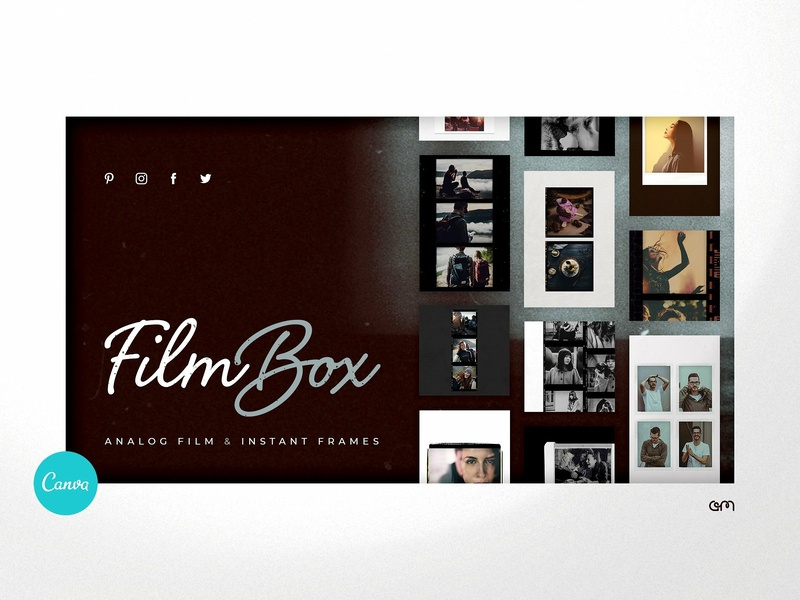 Film Box Analog Frames instagram stories pinterest blog post canva studio camera slide socialmediamarketing instagram art photograhy blogger film branding