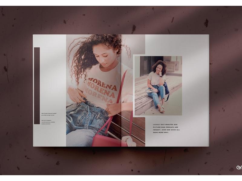 Vilu Magazine Mockup brochure design magazine design psd design shadow social media mock up mock-up template builder branding