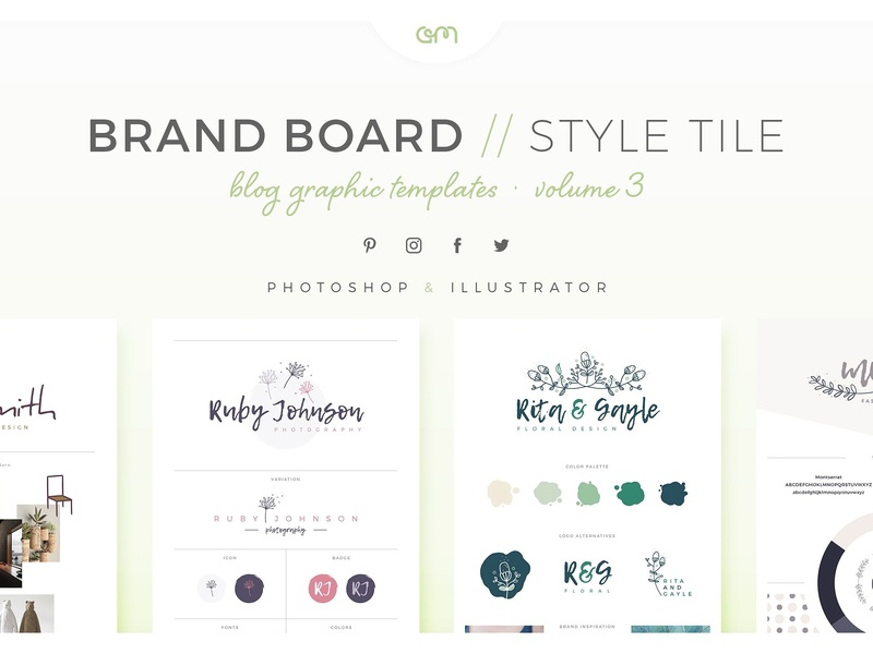 Brand Boards Style Tiles Vol 3 logo design logo design branding branding design logo moodboard scene creator color palette template builder