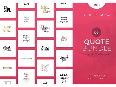 150 Quote Bundle