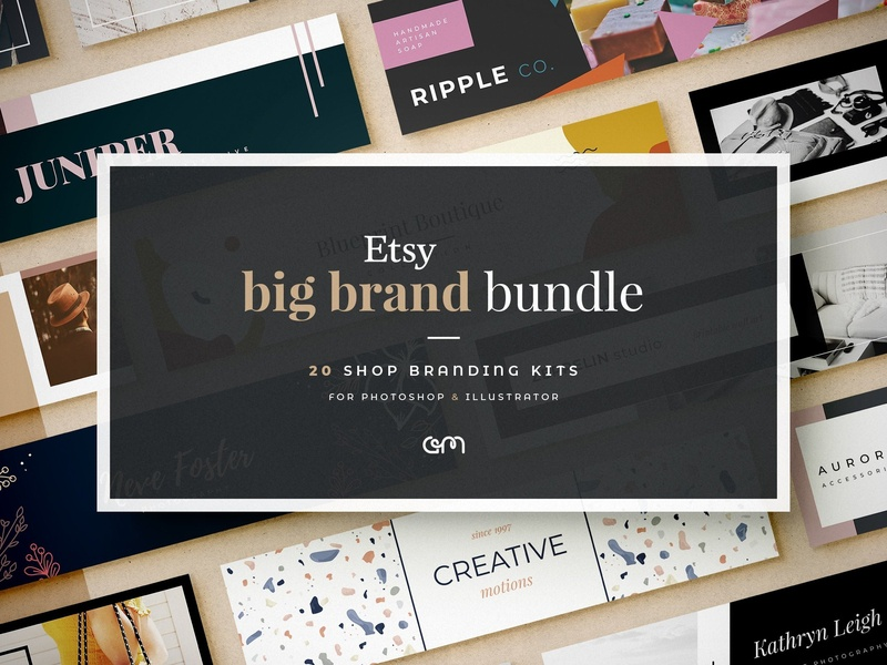 Etsy Big Brand Bundle social media etsy etsy shop template builder brand board color palette design branding