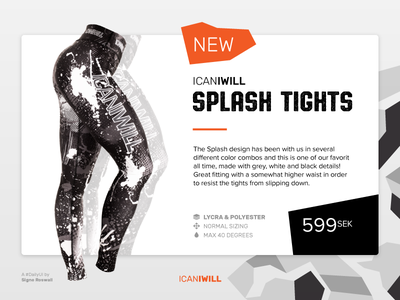 ICANIWILL Splash Tights (#36 Special Offer) design ad advertisement ui offer special women tights fitness icaniwill 36 dailyui