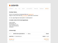 DailyUI #017: Email Receipt
