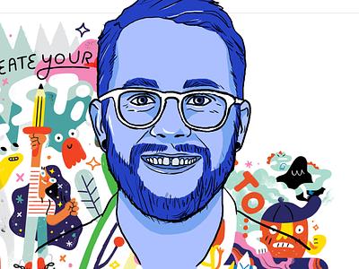 Illustration: Andy J. Miller / Dr. Pizza creative pep talk andy j miller fan art design illustration keynote presentation