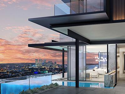 Photorealistic Architectural Visualization/Exterior. Los Angeles visualization frameviz exterior architecture 3d