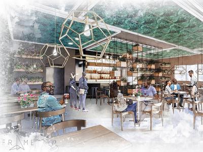 Restaurant concept sketch