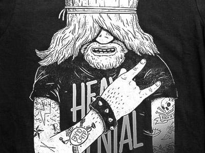 Old Rocker Tshirt tshirt rock tattoo black and white