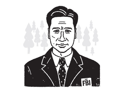 Fox Mulder xfiles portrait