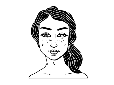 Girl hair portrait girl sketch illustration
