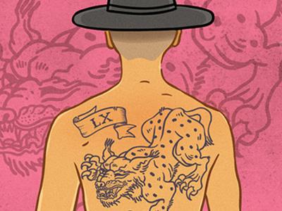 Lynx Tattoo tattoo illustration man pink