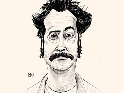 Earl Hickey movie character pencil illustration portrait
