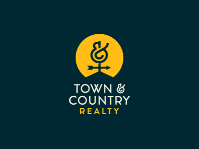 Town & Country Realty Logo realty brand realty logo town and country realty real estate logo brand refresh branding logo