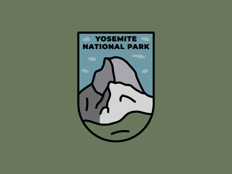 Yosemite National Park Badge yosemite outdoors hiking mountain national park outdoor badge badge