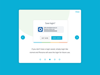 Instructional walkthrough UI lightbox ux design card design steps ui ux walkthrough
