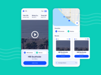 Surf location app application app design surfing ui designer uidesign card ui mobile app design ux designer ux design blue beach location app surf app app surf