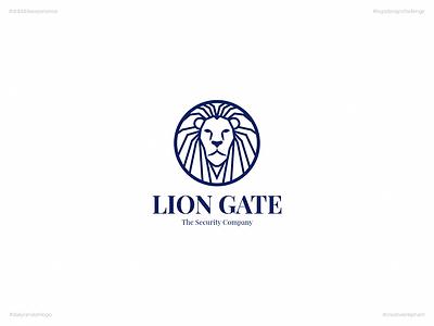 Lion Gate | Day Sixteen Logo of Daily Random Logo Challenge dribbble experience daily random logo daily logo challenge creative elephant