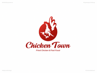 Chicken Town   Day 48 Logo of Daily Random Logo Challenge