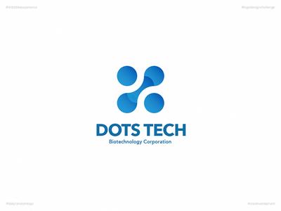 Dots Tech   Day 55 Logo of Daily Random Logo Challenge