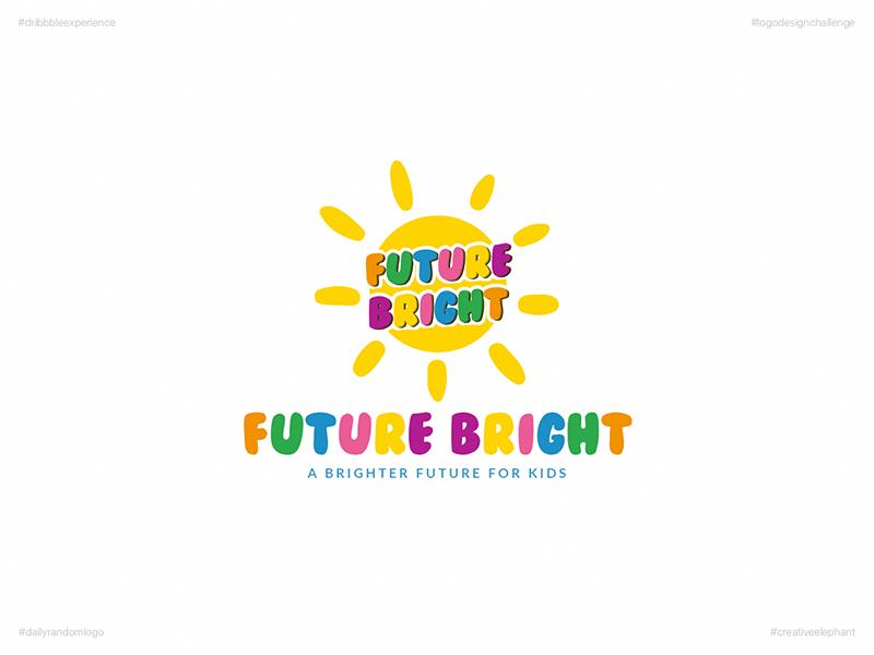 Future Bright | Day 62 Logo of Daily Random Logo Challenge dribbble experience daily random logo daily logo challenge creative elephant