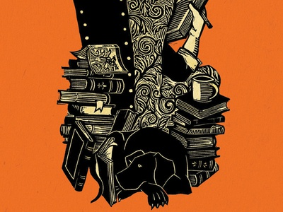 """On Reading Well"" book cover illustration"