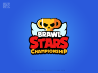 Brawl Stars Championship Logo logo brand identity mobile game aldo hysenaj champion tournament esports logo wing logo supercell brawlstars trophy skull gamers illustration gaming logo gaming sports logo esport