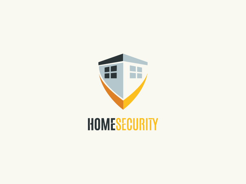 Home Security mark shield home logo security secure brand