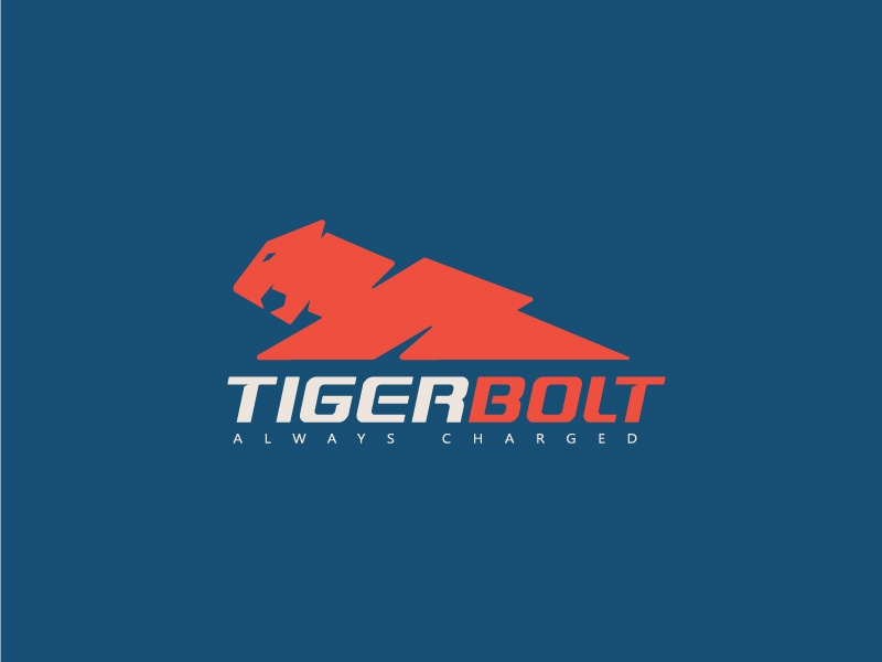 Tiger Bolt wild logo tiger animal bolt thunder sport power energy