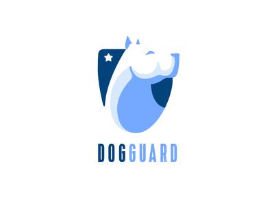 Dog Guard 3 argentina creative emblem shield white security guard dog