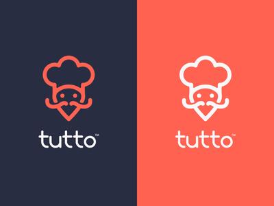 Tutto V2 food logo deliver location simple food delivery delivery mobile app restaurant food
