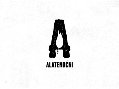 Alatenocni vintage letter logo letter a production night candle light