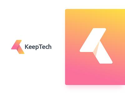 Tech Keep trend acronym brand solution icon app tk logo logo monogram tech