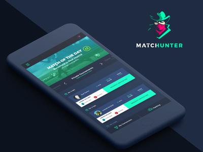 Matchunter App Page hunt hunter tournament football sport social challenge mobile game game betting