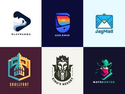 Logo Collection 2016 king skull bet hunter whale panda year collection logos