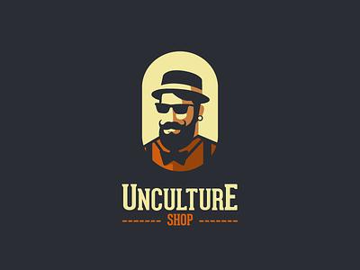 Unculture Shop V1.2 old school old typography type man logo man classic retro vintage store shop hipster