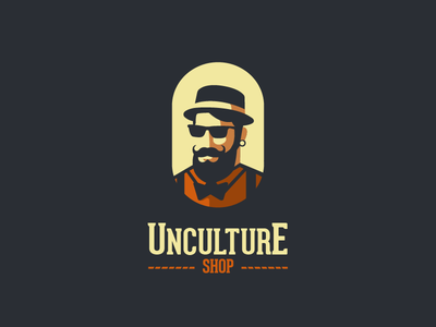 Unculture Shop V1.2 old school old typography type man logo man classic retro vintage store shop hipster
