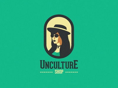 Unculture Shop Female woman female logo old school old typography type classic retro vintage store shop hipster