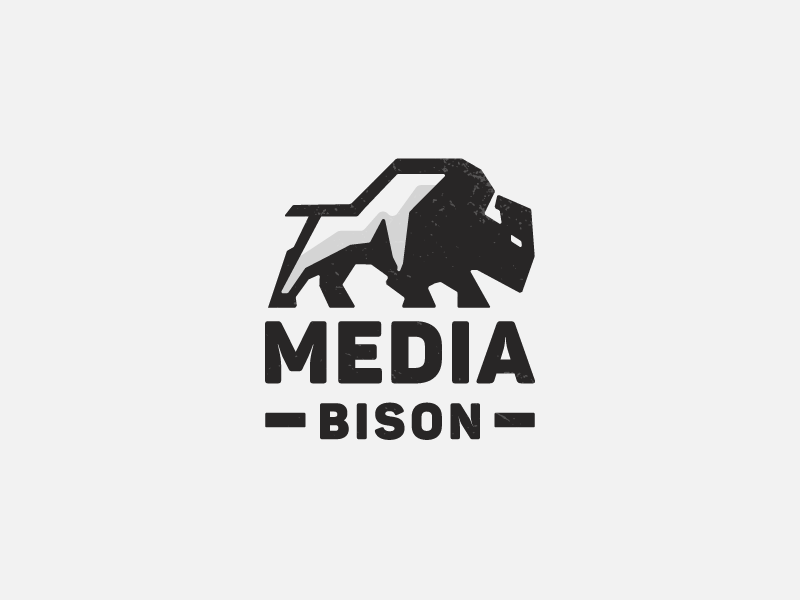 Media Bison V3 Proposal media american buffalo buffalo strong emblem bull bison