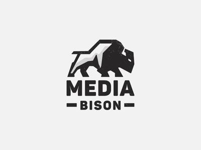 Media Bison V3 Proposal bison logo media american buffalo buffalo strong emblem bull bison