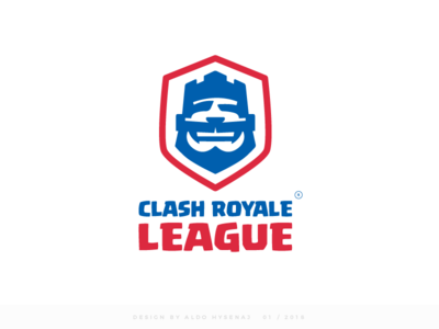 Clash Royale League Logo Final Version gaming logo esportlogo esport games logo game logo mobile game royal esports egames e sports league clash supercell king play clash royale league calsh royale