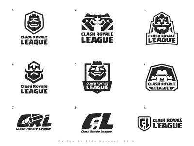 Clash Royale League Aproved Logo and Proposals logos esports game calsh royale clash royale league play king supercell clash league e sports egames