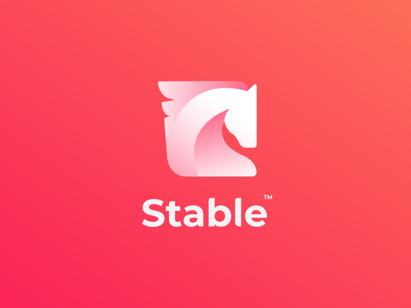 Stable V3.3 colorful logo logo logo design creative  design creative aplication app startup horse logo animal animal logo horse