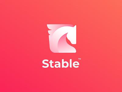 Stable V3.3 colorful logo logo logo design creative  design creative aplication app startup horse logo animal animal logo horse