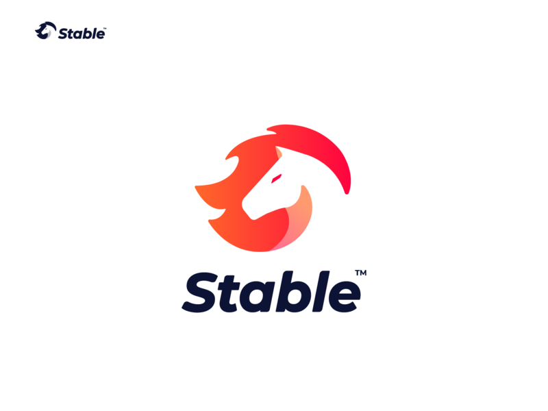Stable Logo Final Version negative space logo negative space animal logo logo horse startup freelance fire horse stable horse logo design wild brand animal